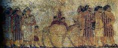 Hicsos representados en un mural egipcio