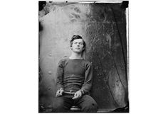 a picture for our times: A photograph taken by Alexander Gardner in 1865, a portrait of Lewis Payne, one of the men involved in the assassination of Abraham Lincoln.