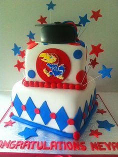 KU graduation cake | Flickr - Photo Sharing!!!!!!!  It is very delicious i bet try to get it