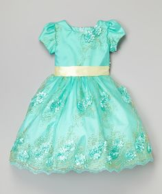 Look at this Turquoise & Yellow Floral Dress - Infant, Toddler & Girls on #zulily today!