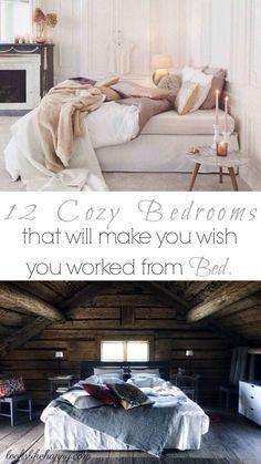 12 Cozy Bedrooms!
