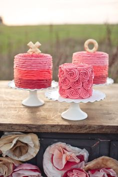 Happiness Is ....  Cakes by Sweet & Saucy Shop!    Photography by Ryan Gabriel, Furniture from Vintage Rentals