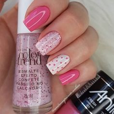 Colorful Nail Designs, Gel Nail Designs, Glam Nails, My Nails, Avon Nails, Metallic Nail Polish, Cute Acrylic Nails, Gorgeous Nails, Manicure And Pedicure