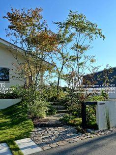 Landscape Design Plans, House Landscape, Landscape Architecture, Garden Steps, Garden Paths, Japanese Garden Style, Japan Garden, Garden Entrance, Entrance Design