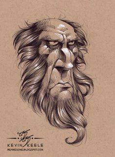 Character design drawing by Kevin Keele
