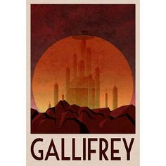 Gallifrey Retro Travel Poster