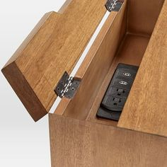 Modern Furniture, Home Decor, Lighting & More - Mid-Century Charging Nightstand Wood Furniture, Modern Furniture, Furniture Design, Home Office Setup, Home Office Design, Office Ideas, Behind Couch, Office Interiors, Bed Design