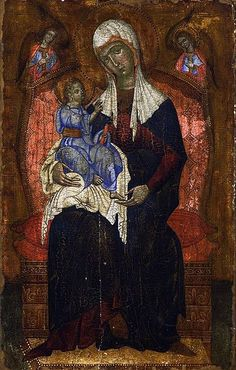Coppo di Marcovaldo Madonna and Child, Royal Castle, Warsaw, Poland Divine Mother, Mother Mary, Religious Icons, Religious Art, Spiritual Images, Best Icons, Byzantine Icons, Madonna And Child, Art Icon
