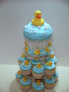 Rubber Ducky Baby Shower Ideas   Rubber Duckie Baby Shower Cake