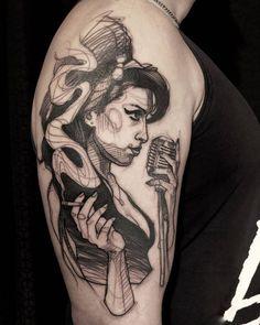 Time Tattoos, Music Tattoos, Body Art Tattoos, Tattoos For Guys, Music Related Tattoos, Tattoo Sketches, Tattoo Drawings, Simple Unique Tattoos, Fan Tattoo