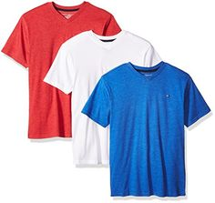 Tommy Hilfiger Big Boys' Core V-Neck Tee 3 Piece Bundle, Blue Jean/Bullseye/White, Medium - https://fashionshop101.com/product/tommy-hilfiger-big-boys-core-v-neck-tee-3-piece-bundle-blue-jeanbullseyewhite-medium/