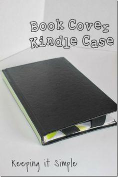 Old Book Cover Kindle Case Tutorial #pickyourplum #washitape #kindle #tablets #tutorial #keepingitsimple