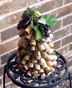 Wine cork decorative tree by Corkycrafts on Etsy, $12.00