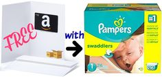 FREE $10 Amazon Gift Card wyb Pampers Diapers! | Get FREE Samples by Mail | Free Stuff