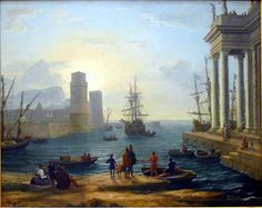 Claude Lorrain Paintings | Embarkation of Ulysses