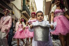 Children celebrate Carnival in Sitges, Spain. 2015