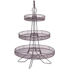 Home Essentials ACACIA EIFFEL TOWER 3 TIER CUPCAKE STAND - 35 CUPCAKES