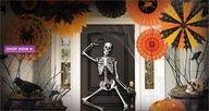 Looove the fluffy paper fans! Halloween decorating ideas #halloween #partycity