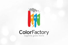 Color Factory Logo Template by @Graphicsauthor