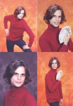Matthew Gray Gubler (Spencer Reid from Criminal Minds) Senior pics.....Hahahaha, so funny!!!