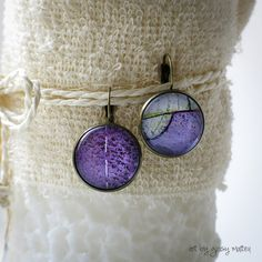 colorful cabochon earrings by Giosy Matteu