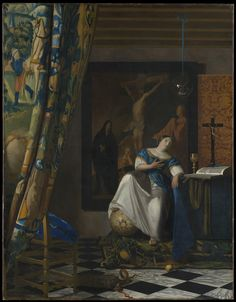 Allegory of the Catholic Faith by Johannes Vermeer via European Paintings Medium: Oil on canvas The Friedsam Collection, Bequest of Michael Friedsam, 1931 Metropolitan Museum of Art, New York, NY