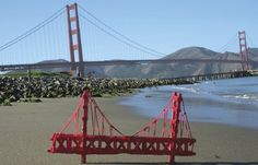 Popsicle stick golden gate model