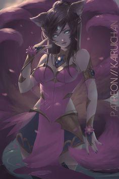 Lotus Ahri [League of Legends] by Kairui-chan.deviantart.com on @DeviantArt  - More at https://pinterest.com/supergirlsart #leagueoflegends #lol #fanart