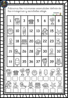 Visita la entrada para saber más 1st Grade Math Games, First Grade Worksheets, Kindergarten Math Worksheets, School Worksheets, Preschool Curriculum, Preschool Learning, Math Activities, Teaching, Numbers Preschool