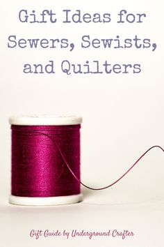 This gift guide includes gift ideas for sewers of all types, including quilters! Get your holiday shopping all sewn up with these fantastic finds. Sewing Basics, Sewing Tips, Sewing Hacks, First Sewing Projects, Diy Projects, Sewing Classes For Beginners, Personalised Gifts Diy, Fabric Shears, Diy Gifts For Friends
