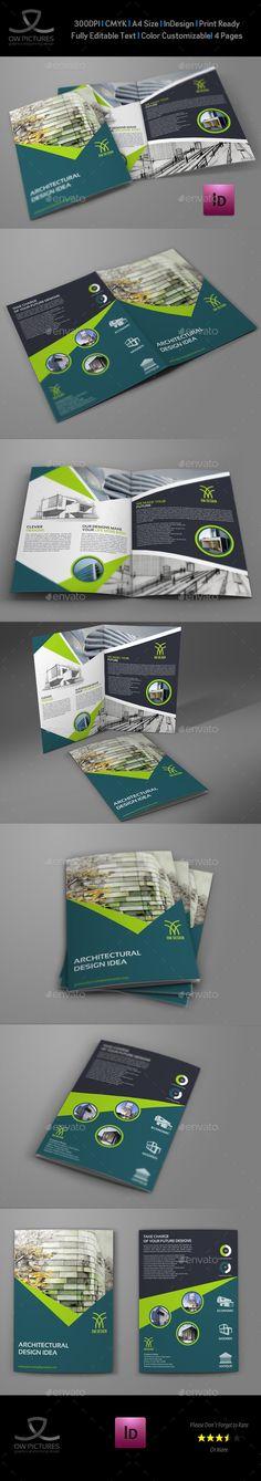 Architectural Design Bi-Fold Brochure Template PSD. Download here: http://graphicriver.net/item/architectural-design-bifold-brochure-template/15777291?ref=ksioks