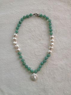 Perlenkette Aventurin Halskette Aventurin von AnnieBSignature