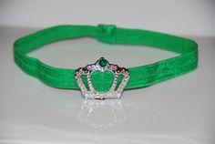St Patricks Day Princess Crown Headband / by lilibirdbowtique, $8.95