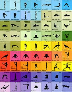 Yoga for healthy body and mind! Could be made into magnets to organise a yoga routine?