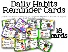Free Daily Routine Cards for Kids from Little Learning Lovies! - Look! We're Learning!