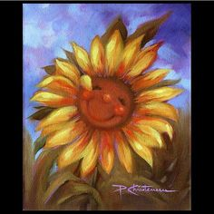 Keep On The Sunny Side ~ Happy Sunflower