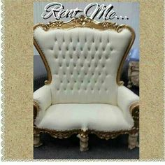 Royal White And Gold Wedding , Baby Shoer, Sweet Sixteen Bench Rental