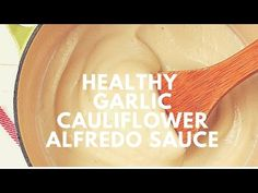 Learn how to make healthy Alfredo pasta sauce with cauliflower. I add roasted garlic for more flavor! Skip the Parmesan and use nutritional yeast for a vegan. Roasted Garlic Alfredo Sauce Recipe, Roasted Garlic Cauliflower, Cauliflower Recipes, Pasta With Alfredo Sauce, Fettuccine Alfredo, Sauce Recipes, Pasta Recipes, Cooking Recipes, Fusilli
