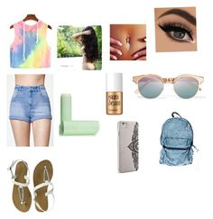 """""""What I would wear to the fair"""" by jordyncyprian on Polyvore featuring Kendall + Kylie, Nanette Lepore, Le Specs, Eos and Benefit"""