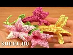 Crochet Bell Flower (part 1 - flower) Урок 71 часть 1 из 2 Как вязать цветок - YouTube
