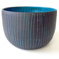 Image of black and blue bowl