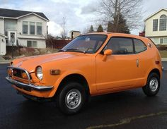 Learn more about Clean Freak: Restored 1972 Honda on Bring a Trailer, the home of the best vintage and classic cars online. Orange Cars, Automobile, Kei Car, Car Search, Honda Cars, Clean Freak, Japanese Cars, Classic Cars Online, Small Cars