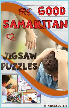 Motivate and enthuse your students with these six differentiated jigsaw puzzles (1 text puzzle and 5 image puzzles) which have the advantage of combining learning about the parable of The Good Samaritan with the enjoyment of playing. The puzzles are suitable to be used as part of the lesson 'The Good Samaritan' during class activities, for revision or as a stand-alone activity. #TesResources #Christianity #Parables #JigsawPuzzles
