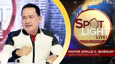 SPOTLIGHT by Pastor Apollo C. Quiboloy • March 7, 2019 Kingdom Of Heaven, Heaven On Earth, T Lights, March 7, Son Of God, My Hero, Spotlight, Worship, Sons