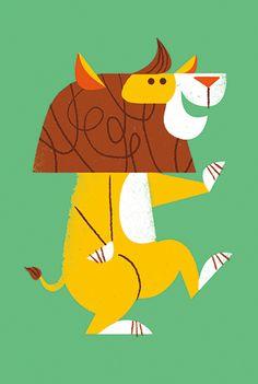 Dancing animal personal promo illustrations by lydia nichols