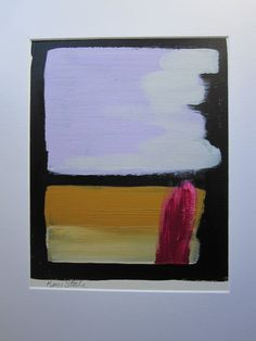 Abstract painting on paper no36 by Kerry by KerrySteelefineart, $25.00