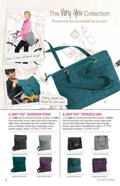 Fall 2013 LOVE this new Vary You Versatile bag www.mythirtyone.com/ChristianeG