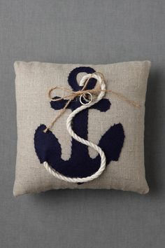 Awesome anchor ring pillow from BHLDN