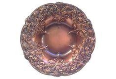 Copper Repousse Decorative Bowl on Chairish.com