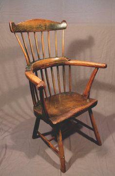 Fine Welsh comb back chair, circa 1780
